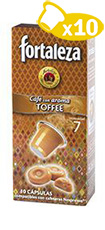 NATURAL TOFFEE-FLAVORED COFFEE CAPSULES</br> 10 UNITS
